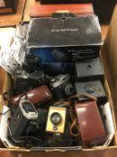 Quantity of various cameras
