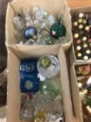Two boxes of assorted glass ware