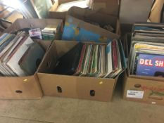 Five boxes of LPs and CDs