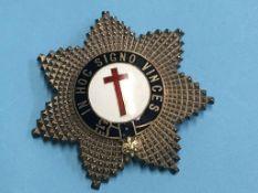 A Freemasons silver badge
