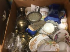 Four boxes including Ringtons, Maling etc.