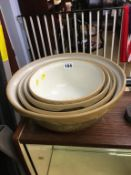 Four graduated mixing bowls