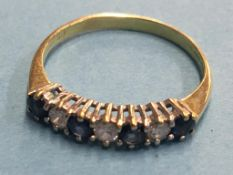 A ring, stamped '750', 1.9g