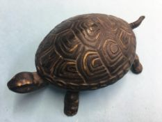 A desk or table bell in the form of a Tortoise