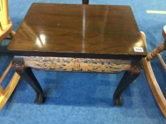 Oriental standard lamp and small occasional table