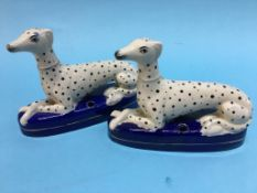 Pair of Staffordshire style pen holders