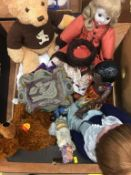 Steiff teddy bears, Bisque headed dolls etc.