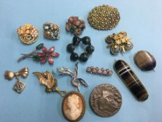 Assorted brooches