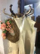 Coat stand and flower carrier bags