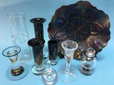A collection of assorted studio glass