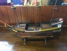 Model galleon