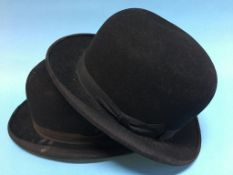 Two bowler hats