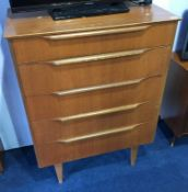 A teak Beeanese chest of drawers