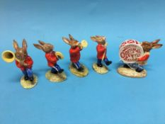 A boxed five piece Royal Doulton Oompah band