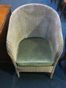 Lloyd Loom linen basket and chair