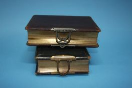 Two Edwardian photo albums and contents