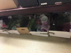 Six boxes of glass vases etc.