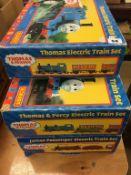 Three Hornby Thomas The Tank Engine train sets