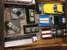 Tray containing Die Cast cars