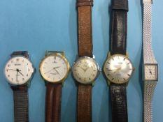 Collection of wristwatches, Sekonda etc.
