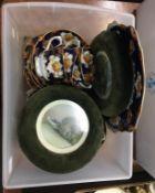 Royal Albert part tea set and a pair of watercolours