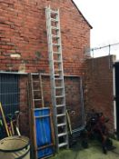 Pair of aluminium property ladders