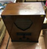 Art Deco walnut radio