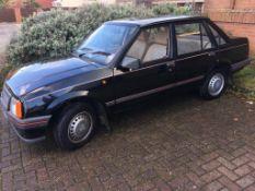 A 1989 Vauxhall Nova Merit, registration RH 1508, mileage 10,000