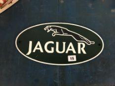 Cast Jaguar sign