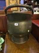 Brass coal scuttle