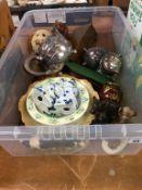 Silver plated tea set, Carlton Ware vase etc.