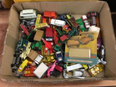 Tray of die cast cars/toys