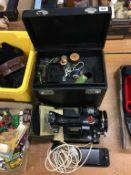 A Singer 221K1 sewing machine