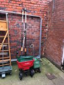 Quantity of branch loppers and fertiliser spreaders. Contactless collection is strictly by