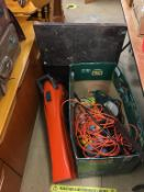 Carpenters tool box and contents, a garden vac and a lawnmower. Contactless collection is strictly
