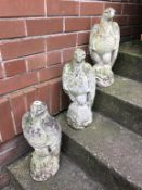 Three composite stone garden Eagles. Contactless collection is strictly by appointment on