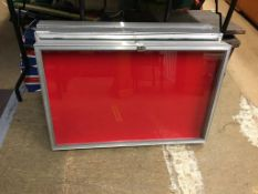 Three table top display cabinets. Contactless collection is strictly by appointment on Thursday,
