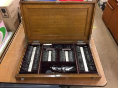 Oak cased opticians eye testing kit. Contactless collection is strictly by appointment on