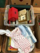 Assorted ephemera including cruise menus and programmes, in one box. Contactless collection is