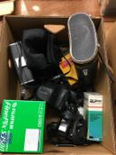 Pentax camera, Simon 10x50 binoculars etc. Contactless collection is strictly by appointment on