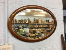 Mahogany framed oval mirror. Contactless collection is strictly by appointment on Thursday, Friday