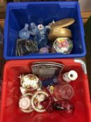 Assorted studio glass, Maling biscuit barrel etc. Contactless collection is strictly by