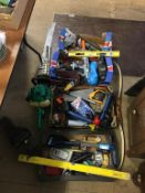 Four boxes of tools, a vice and a petrol hedge trimmer. Contactless collection is strictly by