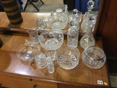 Quantity of cut glass, decanters, bowls etc. Contactless collection is strictly by appointment on