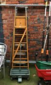 Three pairs of step ladders, two sash clamps etc. Contactless collection is strictly by
