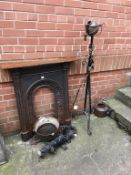 Fire surround, adjustable oil lamp, pump etc. Contactless collection is strictly by appointment on