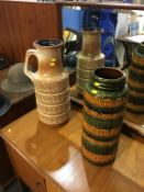 Two West German vases. Contactless collection is strictly by appointment on Thursday, Friday and
