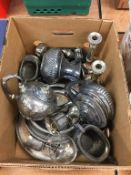 Quantity of silver plated items. Contactless collection is strictly by appointment on Thursday,