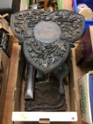 Carved folding table, carved box, cutlery etc. Contactless collection is strictly by appointment