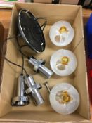 Chrome and glass light fitting. Contactless collection is strictly by appointment on Thursday,